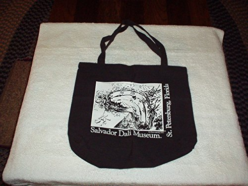 (Vintage 1990's Salvador Dali Museum Tote Cloth Bag with