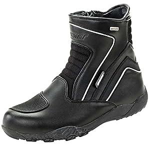 Joe Rocket Men's Meteor FX Mid Leather Motorcycle Riding Boot (Black, Size 9)