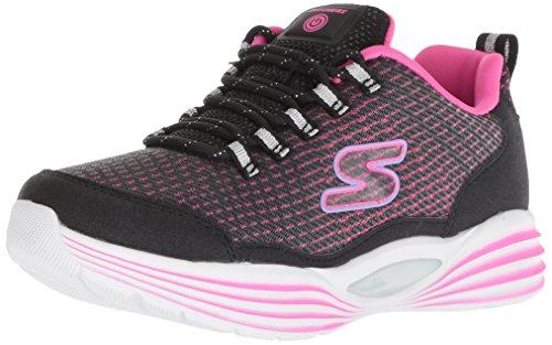 Skechers Kids Girls' Luminators Luxe Sneaker, Black/Pink, 11 Medium US Little - Girl Luxe