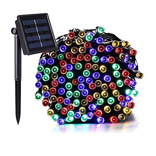 Solar String Lights, 200 LED 72ft LED String Lights Waterproof, 8 Modes Fairy Garden Decorative Lighting for Indoor Outdoor Home Garden Patio Halloween Party Xmas Trees and Holiday Multicolor