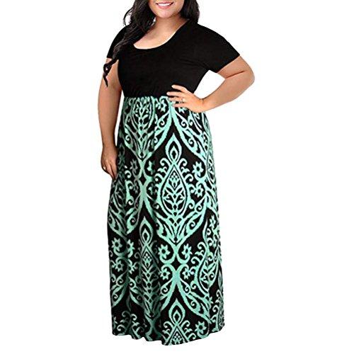 Mujer 2018 de Vestido Boho Maxi Largos Rayado Lady Beach 1 de Grande Verano Vestidos Largo mujer Vestido Vestido Mujer Fiesta Verano de de Talla Vestido Verde Manadlian Sundress q8I0t