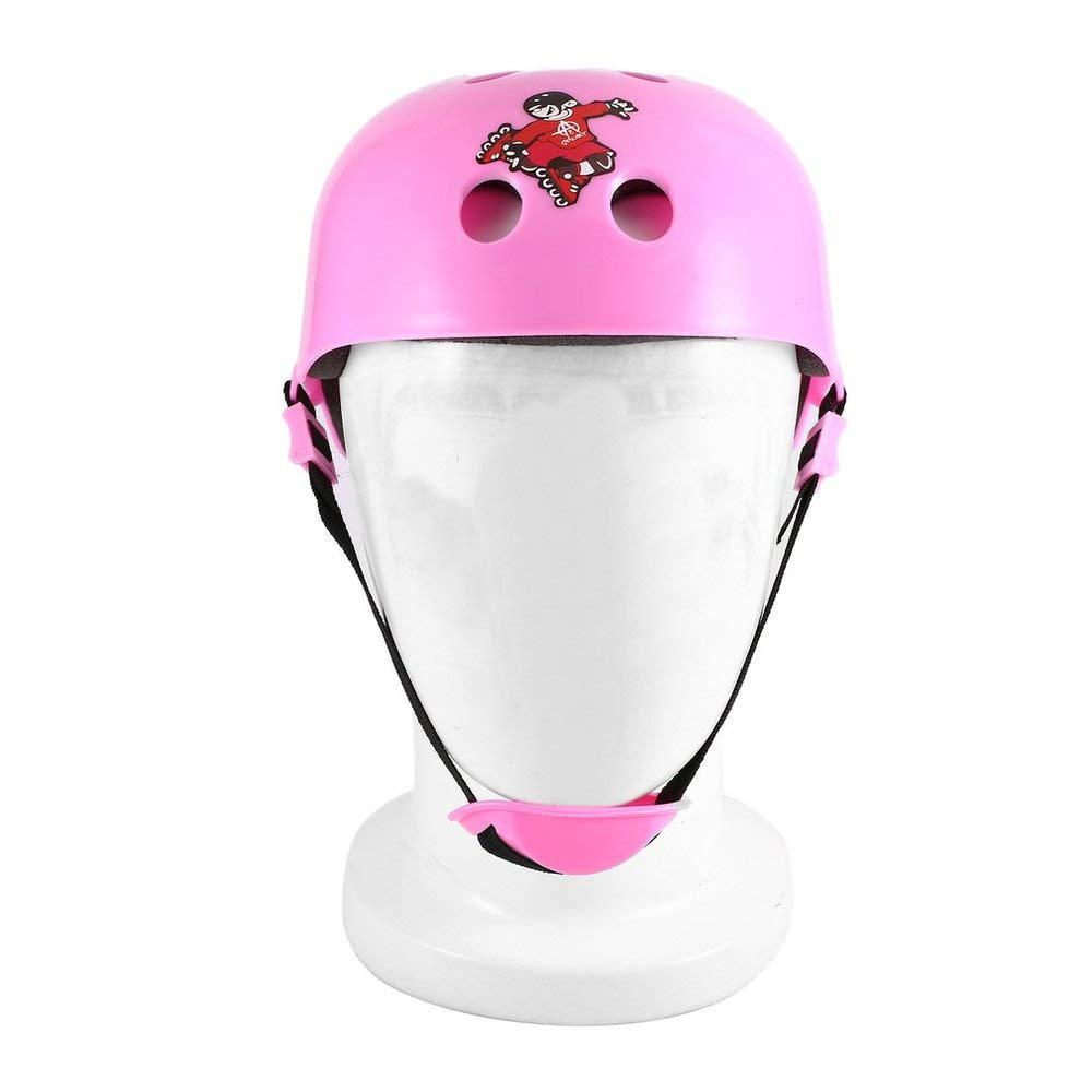 BFHCVDF Cute Shape Kids Roller Skating Helmet For Riding Scooter Outdoor Sports Pink S