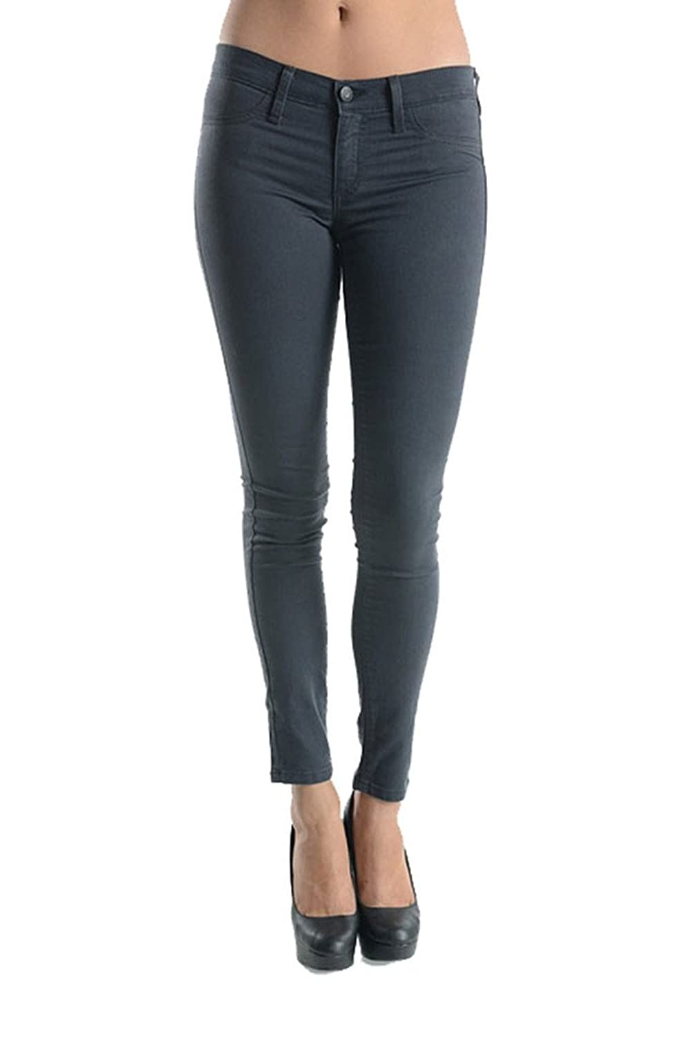 156c7b52dc 70%OFF Kan Can Women's Classic Mid Rise Skinny Jeans Grey KC663GR ...