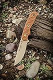 TOPS Tex Creek 69 Knife Coyote Tan Blade Tan Bullseye Tread Handles Knife TEX-69