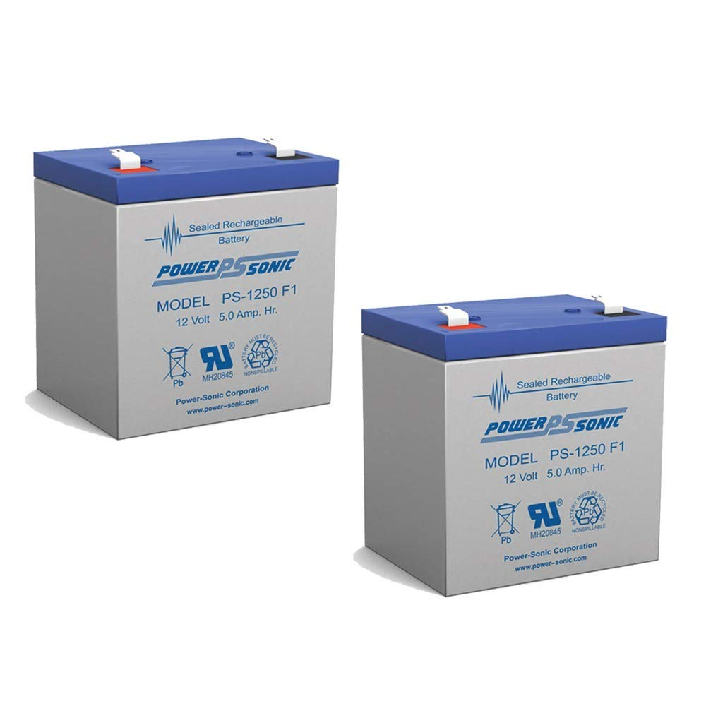 Power-Sonic 12V 5AH SLA Battery Replacement for Enduring 6-DW-5-2 Pack by Power-Sonic