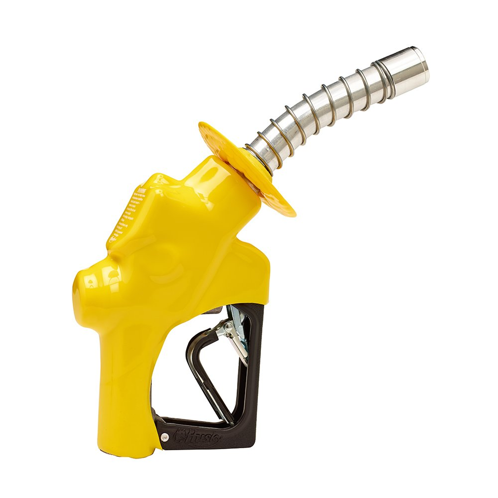 Husky 173310N-05 New VIII Heavy Duty Diesel Nozzle with Three Notch Hold Open Clip, Full Grip Guard and Yellow Hand Guard