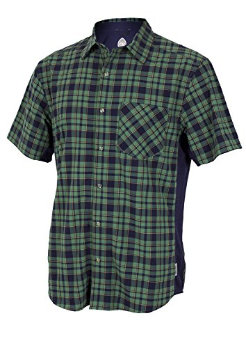 Club Ride Apparel Detour Jersey - Men's Short Sleeve Cycling Jersey - Navy Plaid - Large