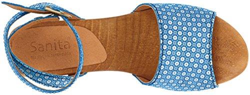 Sanita Yarissa Flex, Sandali con Cinturino Alla Caviglia Donna Blau (Blue)