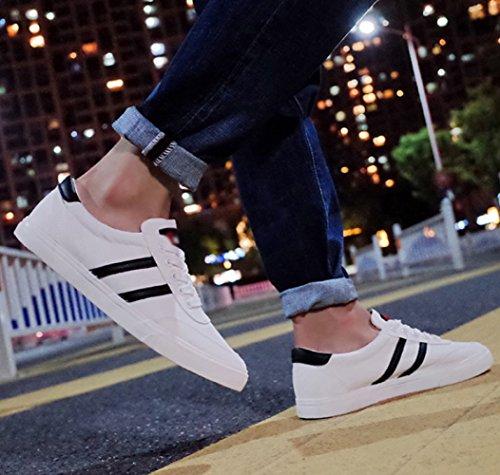 delle scarpe Scarpe WFL uomo di da scarpe amanti bianca fondo piatto tela scarpe basse bianche parallele uomo da con classiche F8wz1F