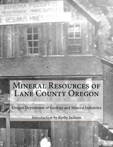 Mineral Resources of Lane County Oregon