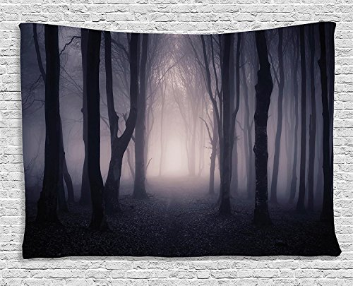 Halloween Pumpkins Tapestry Witch Haunted Castle Halloween Tapestry Blanket Black Cat Bats Ghost Spider Web Tapestries Scary Forest Graveyard Tapestry Wall Hanging For Halloween Decoration Party Decor