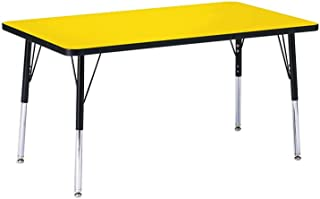 """product image for Jonti-Craft Kydz Activity Table 24"""" X 36"""" Rectangle/Yellow Top/Black Edge/Toddler Height"""