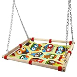 Hypeety Bird Toy Climbing Hammock Nest Game Bed Hut Hammock for Parrot Parakeet Cockatiel Conure Cockatoo Cage Perch Stand Swing Toy