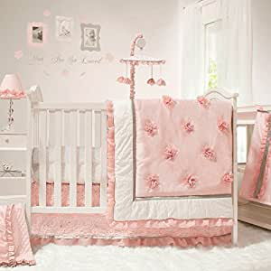 Amazon Com Arianna 4 Piece Pink Floral Baby Crib Bedding