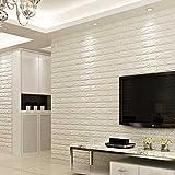 3D White Brick Tile Wallpaper, Waterproof