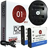 DOT-01 2x Brand Sony DC-RX0 Batteries and Dual Slot USB Charger for Sony DC-RX0 Action and Sony RX0 Battery and Charger Bundle for Sony BJ1 NP-BJ1