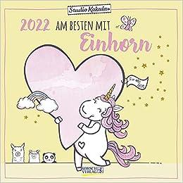 Einhorn Kalender 2022 30x30cm