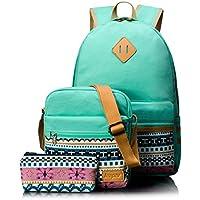 Leaper Backpacks for Teen Girls Teen Backpack Set School Bags, Bookbags 3 in 1