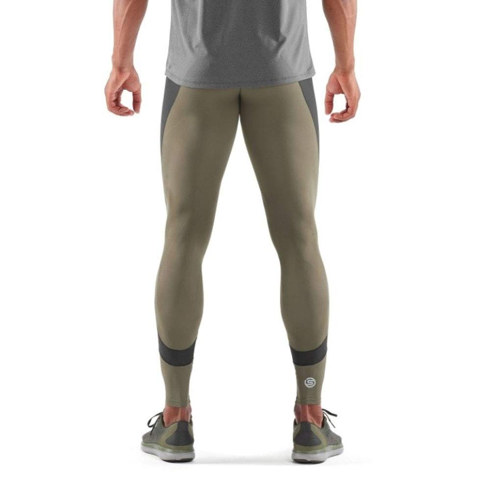 f0255f0fd4fc08 Amazon.com : Skins Mens DNAmic Ultimate K-Proprium Long Tights,  Utility/Black, Large : Sports & Outdoors