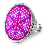 80W LED Grow Light Bulb,120Leds Full Spectrum Grow Lamp for Indoor Plants, Plant Bulbs Growing Lights, Plant Light Bulb for Indoor Garden Greenhouse and Hydroponic Plants