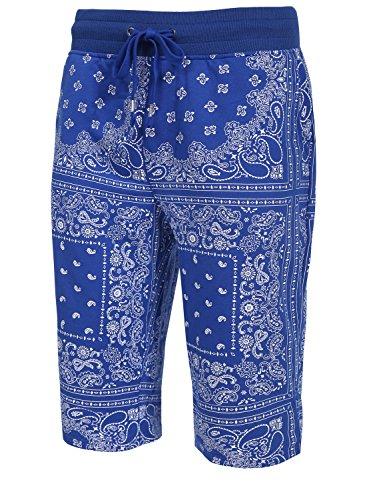 NE PEOPLE Mens Casual Bandana Print Cargo Shorts (Bandana Print Clothing)