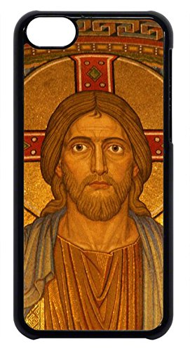 Jesus Christ Cross Hard Plastic Black Case Cover for iPhone 5CS by Cases4U (Tm)