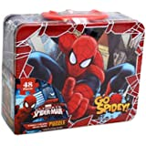 Spiderman 48 Piece Puzzle in Tin Lunchbox
