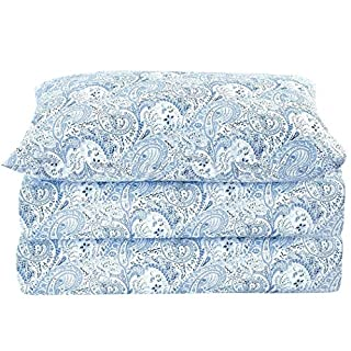 Mellanni Bed Sheet Set Brushed Microfiber 1800 Bedding - Wrinkle, Fade, Stain Resistant - Hypoallergenic - 3 Piece (Twin XL, Paisley Blue) (B01ASDANPK) | Amazon price tracker / tracking, Amazon price history charts, Amazon price watches, Amazon price drop alerts