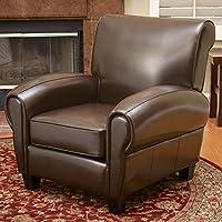 Ridgemark Brown Leather Club Chair