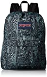 : JanSport Superbreak Backpack - Aqua Dash Scribbled Ink