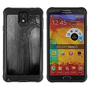 "Hypernova Defender Series TPU protection Cas Case Coque pour SAMSUNG Galaxy Note 3 III / N9000 / N9005 [Noche Gris oscuro sombrío Rainy""]"
