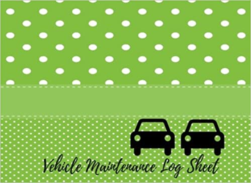 amazon com vehicle maintenance log sheet car maintenance repair