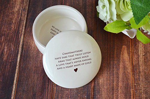 Grandmother Gift, Grandma Gift, Grandma Birthday Gift, Grandma Wedding Gift, Grandma Birthday Gift, Grandma Mother's Day Gift - SHIPS FAST - Round Keepsake - Best Grandma Keepsake