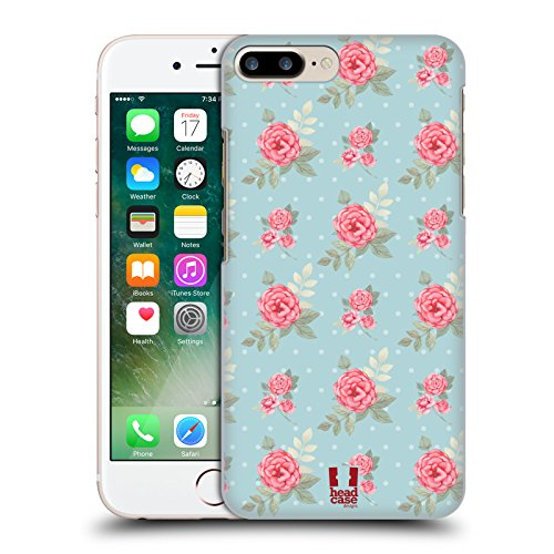 Head Case Designs Fiori Inglesi Pattern Rose Nostalgiche Cover Retro Rigida per Apple iPhone 7 Plus / 8 Plus