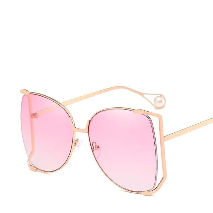Aoligei Metall-Halbformat Sonnenbrille Dame große Kiste bunte Ozean Stück Sonnenbrille pearl Deko-Spiegel Bein Gläser 8DQGTXg3fg