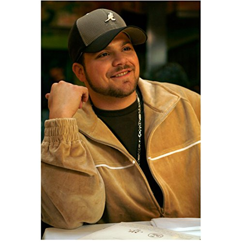 - Entourage 8 x 10 Photo Jerry Ferrara Tan Warm Up Jacket Over Black Tee Black & Grey Hat kn