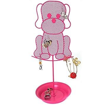 Amazoncom Cute Dog Jewelry Organizer Pink Earring Jewelry Stand