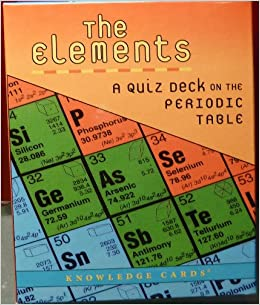 The elements a quiz deck on the periodic table k346 jessica wolpert the elements a quiz deck on the periodic table k346 jessica wolpert 9780764955211 amazon books urtaz Images