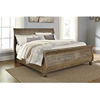 Ashley Trishley Queen Sleigh Bed in Light Brown