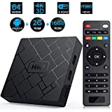 Android TV Box - LIVEBOX HK1 2018 Version Android 7.1 TV Box with 2GB RAM 16GB ROM Amlogic S905W Quad Core A53 64 Bits,Supporting 4K (60Hz) Full HD/3D/H.265/WiFi 2.4GHz (HK1)