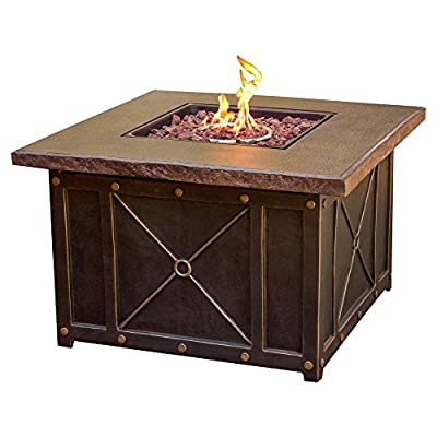 Hanover Traditions 4 Piece Aluminum Fire Pit Conversation Set