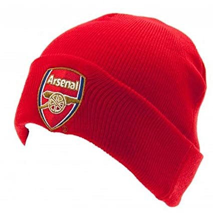 56c06f2d4e1 Image Unavailable. Image not available for. Color  ARSENAL FC Official Knitted  Hat TU RD Red Beanie