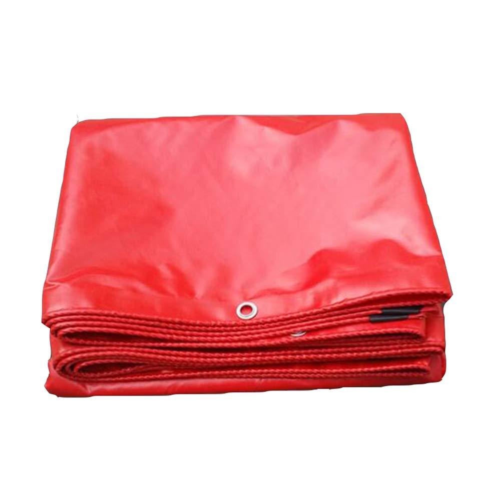 DALL ターポリン タープ 両面 耐寒性 日焼け止め オーニング 折りたたみ アウトドア 不凍液 (色 : 赤, サイズ さいず : 4×5m) 4×5m 赤 B07KWML7GC