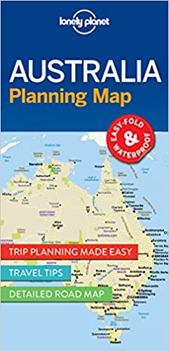 Australia Planning Map Travel Guide Lonely Planet 9781786579089