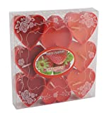 Willcome Set of 9 Red Heart-shaped Tealight Candles Sweet Lavander Gradient Color Tea Light Candles for Weddings, Birthday Parties