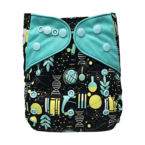 Amazon.com : Baby Washable Ecological Diaper - with 2 Bamboo Inserts for Cloth Diapers (Science) : Baby