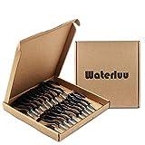 WaterLuu 20 Pack 2.9 Inches Ceiling Hooks,Vinyl