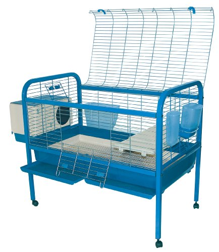 Marchioro Luna 102 Cage for Small Animals with Wheels, 40.25, Blue by Marchioro