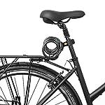 Gregster-Catena-a-Spirale-a-Combinazione-Numerica-Lucchetto-con-Combinazione-Numerica-per-Bicicletta-100-cm-di-Lunghezza-12-mm-di-Diametro-Supporto-Incluso