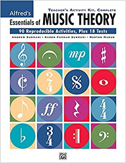 teachers activity kit complete 90 reproducible activities plus 18 tests essentials of music theory